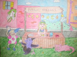 Psychic Pokemon fair time by AnaturalBeauty