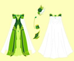 Emerald Dress Design by Eranthe