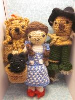 Wizard of Oz Lion Scarecrow Toto and Dorothy by Spudsstitches