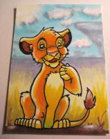 The Lion King Young Simba ACEO by ladyriven