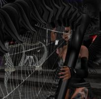 Aziza on the spider's harp by absinthiac