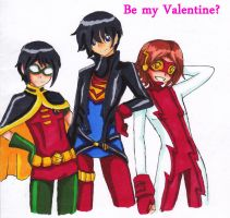 Young Justice - Valentine by GohoshiSuruNyan
