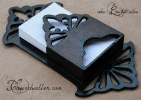 Elegant Notecard Dispenser by EuTytoAlba
