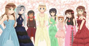 Hetalia Girls- Party Dresses by DazaruKanChu