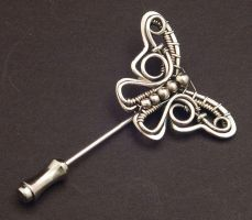 Butterfly Stick Pin by WiredElements