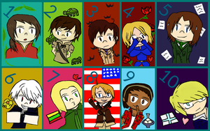 Top 10 favorite Hetalia Characters by Mllermanda
