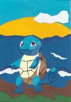 Squirtle Paper Cutting by wandering-pen
