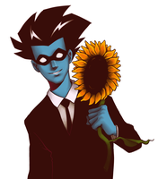 Freakazoid Sunflower by student-yuuto