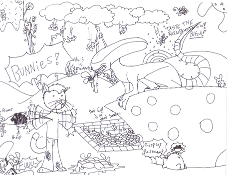 BUNNIES Coloring page by CocoTheWolf