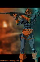 D - is for Deathstroke by Ammotu