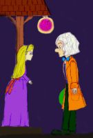 Colored Hatter and Alice by DancinBelle