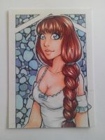 ACEO 146: Blue glass by Forunth