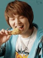 Onew and his chicken GIF by KimMinjung