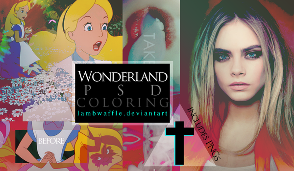 Wonderland PSD by lambwaffle