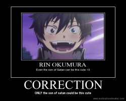 rin okumura motivational poster by LittleGayWolf