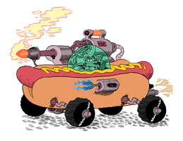 HotDog Car by mrdynamite