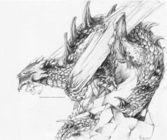 Pencil dragon by grimzzi