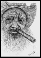 Old Cuban Cigar Smoker by carriephlyons