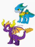 Two Dragons of Skylands by sapphire3690