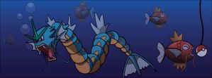Gyarados Facebook Cover by Mikey64speedy