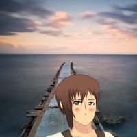 Hetalia - Cyprus at Sea by PucchiPuchi