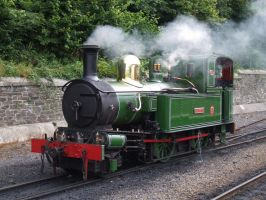 Isle of Man Railway No.10 G.H Wood at Douglas by DaveOnTheRails