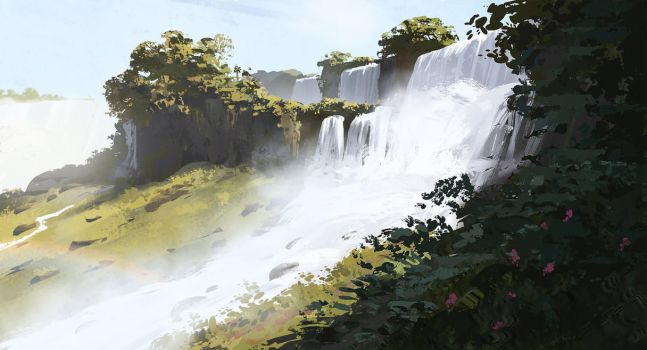 Waterfall study by zherebinix