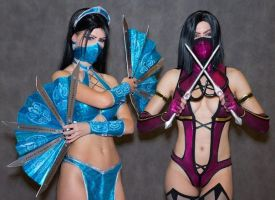 Mileena cosplay MK9 by AsherWarr