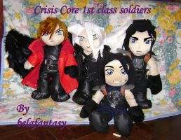 Crisis core plushies by belafantasy