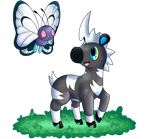 Blitzle and Butterfree by FuwaKiwi