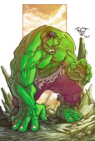 The Green Hulk by pant