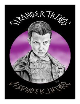 Stranger Things- Eleven3 8x10 by Silentkidsolo