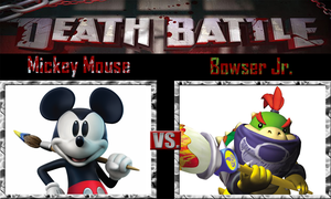 Mickey Mouse vs Bowser Jr. by SonicPal