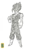 Vegeto SSJG by bloodsplach