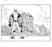Wolverine cover 46 inks by Lobo-Cuevas