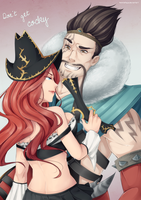 Commission - Draven and Miss Fortune by AshitaMaya