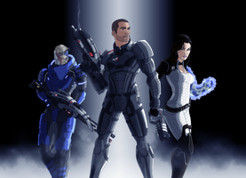 Mass Effect Shepard's Squad by BOGUS-15