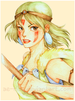 Fan Art: Princess Mononoke by ae-rius