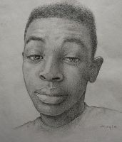 Self Portrait Drawing 01 by AnthonyAKABenny