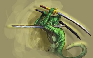 roronoa zoro :tiger vers: by Silverbloodwolf98