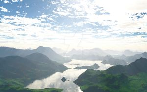 Terragen 2 - Test 1 by Luzeronna