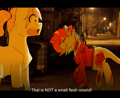 It's Only A Little Flesh Wound by bananna108