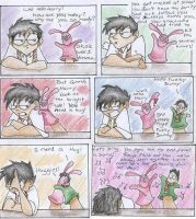 Harry Potter and Fuzzy Bunny by FrothingLizard