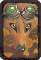 ATC Steampunk Dogs - Boomer by Fernheart95