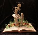 Who Are You? Book Sculpture by wetcanvas