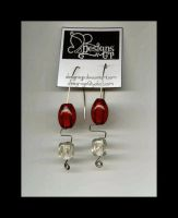 cristal red earing by DesignsGP
