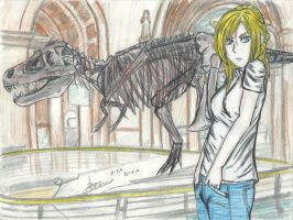 Aya Brea Into The Museum by Fenrir7777