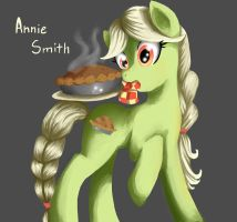 Annie Smith and her pies by Rubi-one-chan