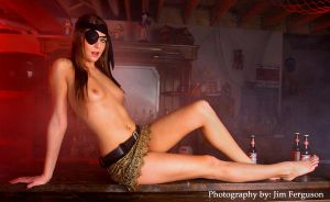 Pirate girl on the bar by FergieFoto