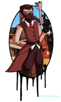TF2 Medic and Spy Fusion by scifiEnchantress